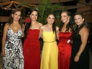 Luz Helena Castro, Silvana Suárez, Marcela Prada, Zaira chacón y Mellierlandy Martínez.