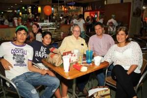 Carlos Prada, Darío Prada, Omar Aguilar, Luis Fernando Prada y Carmen Elisa Rivera.