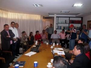En el encuentro, cumplido en la Alcaldía, se dieron a conocer algunos temas sobre la situación actual del Municipio.