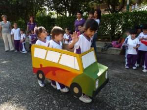 Por estos días los pequeños se pulen en la presentación de la obra de teatro 'Un viaje maravilloso'.