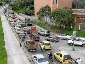 Así se observa a diario la autopista entre Cañaveral y la Puerta del Sol.