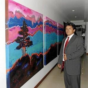 Javier Villamizar Pinto, pintor bumangués.