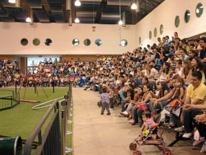 Niños y adultos gozaron del show de Chiruka.