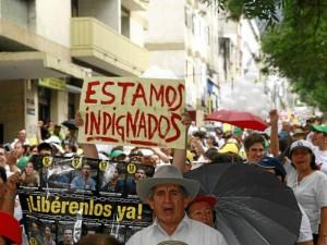 La marcha que se convocó a través de las redes sociales, medios de comunicación y el apoyo de la organización 'Colombia soy yo '