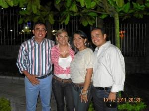 Libardo Lagos, Sandra García, Mayelith Ortiz y Diego Rojas.