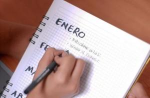 Organice sus metas con calendario en mano.