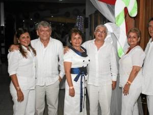 Leonor Jiménez, Martin Prado, Dioselina Calderón, Henry Serrano, Linda de Rodríguez y Jorge Arturo Rodríguez.
