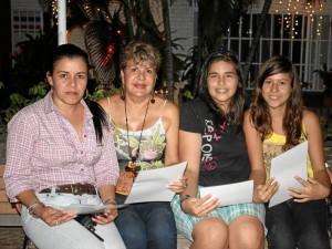 Luz Mary Osorio, Ángela Ramírez, Nayibe Peñaranda y Silvia Cely.