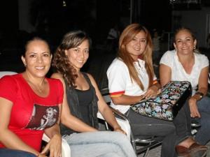 Marlene López, Jenny Rodríguez, Claudia Quintero y Adriana Converse.