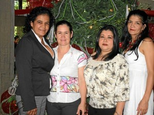 Natalie Blanco, Ada Liliana Blanco, María Eugenia Padilla y Teresita González.