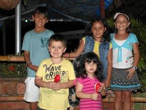 Juan López, María Otero, Juan David Blanco, Andrea Fernanda Girol y María José calderón