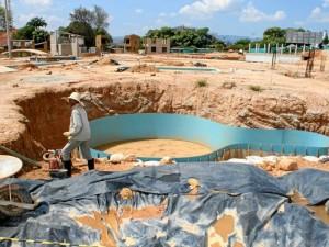 Acualago tendrá varias piscinas, una de ellos con olas, río artificial de corriente controlada, toboganes gigantes, área para menores y zona de comidas.