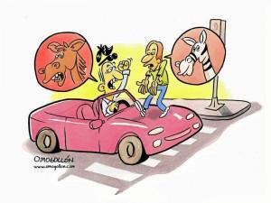 Caricatura de Omogollón.
