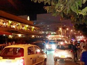 El caos vehicular se repite en Cañaveral a diario y se agudiza los fines de semana.