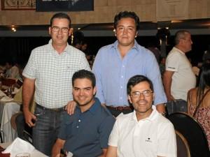 Martin Nicholls, gerente Tylor Made, Andrés Rincón, presidente de Solways, Juan Carlos Valenzuela, Andrés Cuellar, gerente de mercadeo de la Federación colombiana de golf.