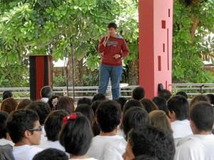 La presentación de Miguel Leonardo León mantuvo a los espectadores muy atentos.