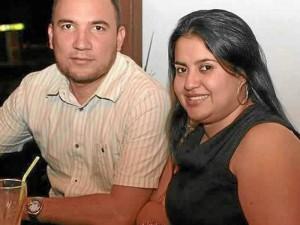 Sandra Milena Núñez y Jhon Lizcano, en el Trevejo.
