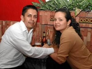 Fanny Gómez y Alejandro Celis en el Trevejo.