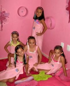 Catalina Mariño, María Jimena Duarte, Giselle Rico, Lucía Remolina Céspedes y Heidy Rico.