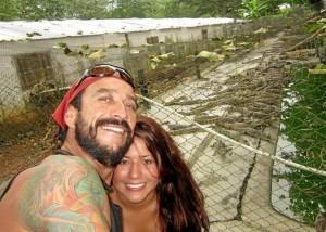 Richi con su novia Lyly en el Zooparque Los Caimanes. Ubicado en Km 25 vía Caucasia  Planeta Rica, Córdoba.