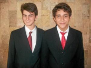 Javier Enrique Romero, Personero (izq.) junto a su fórmula el Vicepersonero, Rafael Estévez.