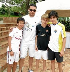 Santiago Ramírez, Óscar Ramírez, Mathias Knudsen y Federico Martínez.