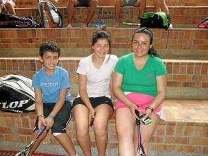 Felipe Rojas, María Alejandra Sandoval y Paula Sánchez.