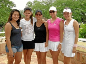 María Isabel Jaimes, Juliana Peña, Yolanda Ardila, Paola Gómez y María Cristina Bonilla