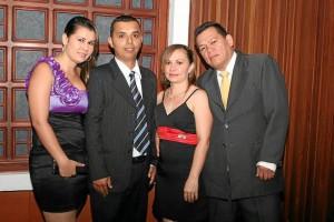 Jenny Meléndez, Hernando Téllez, Yamile Téllez y Francisco Dueñas.