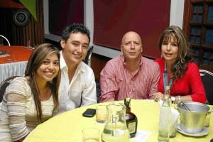 Andrea Camacho, David Cárdenas, Gustavo Ruiz y Blanca María Escobar.