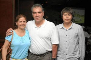 María Helena Pico, Rafael González Rey y Rafael González Vesga.