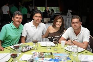 Jairo Mora, Cristian Mora, Natalia Galindo y Eduardo Avellaneda.