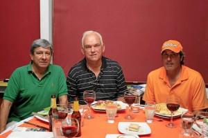 Humberto Páez, Jaime Gómez y Sergio Cadena.