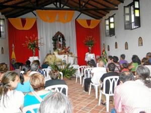 En la capilla del Parque Nacional del Chicamocha se vivió también la Semana Santa.