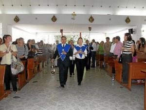 Feligreses de la Parroquia Santa María Reina.