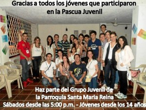 Grupo Juvenil Parroquia Santa María Reina.