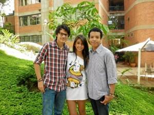 Carlos Rincón, Juliana Solano y Carlos Mantilla.