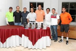 Richard Rojas, Javier Gaviria, German Monsalve, Juan Carlos Cubillos, Gustavo Ramírez, Eduardo Cobo, William Argüello y Óscar Cruz.