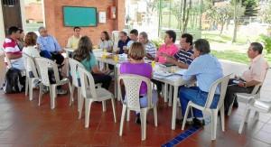 Primera reunión de la asociación de vecinos del sector.