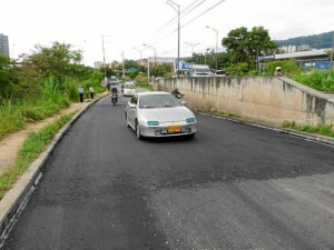Así luce ahora la paralela a la autopista Bucaramanga – Floridablanca a la altura de Trinitarios.