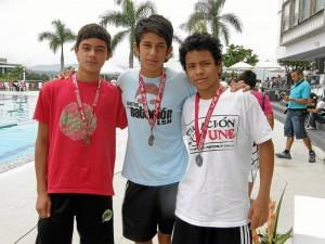 Pedro Poveda, Julián Castillo y José David Pabón.