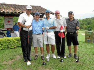 Carlos Rojas, Eduardo Uribe, Daniel Rojas, Raúl Rivero y Gonzalo Gómez.