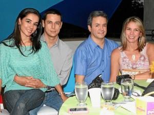 Olga Otero, Juan Camilo Rugeles, Jorge Iván López y Paola Andrea Gómez.