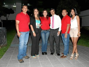 Iván López, María del Pilar Díaz, Alba Luz Melo, Mauricio Cabrera, Orlando Vargas y Estibaliz Meneses.