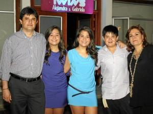Fabio Serrano, Gabriela Serrano, Alejandra Serrano, Pablo Serrano y Ana Milena Rodríguez.