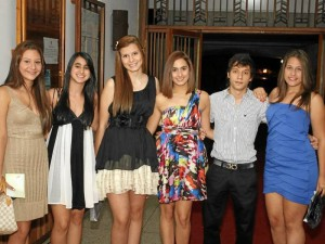 Laura Ramírez, María Camila Rangel, Alejandra Liévano, Valentina Díaz, Jaime Naranjo e Isabela Zuluaga.