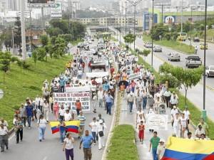 El sector de Cañaveral y sus alrededores ha realizado varias marchas de protesta durante los últimos años.