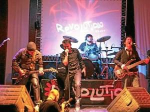 Aquí la banda durante una de sus presentaciones en Bogotá para el cumpleaños número 10 de Subterránica.  (Foto Suministrada Rafael Escandón )