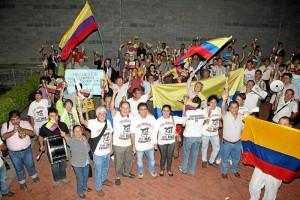 Mauricio Betancur / GENTE DE CAÑAVERAL La última protesta de la comunidad tuvo su origen en el hecho de que la obra no se ha ejecutado pese a que ya van dos años desde que se inició el cobro de la valorización.