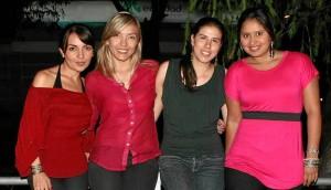Jazmín Rodríguez, Laura Rojas, Silvia Higuera y Tatiana Celis.  (Foto Mauricio Betancourt )